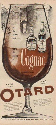 1952 Otard Chateau de Cognac Brandy France Ad  eBay