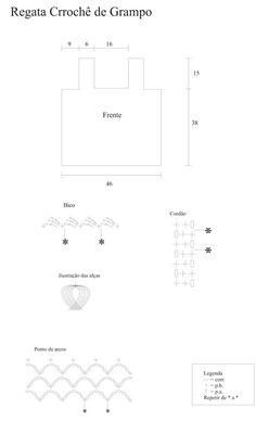 Material: 1 novelo de Anne na cor nude (7684); Sobras de fio de Encanto na cor nude para as franjas (7650); Sobras de fio Charme na cor nude para as franjas (7684); Agulha de crochê 2mm; Linha e agulha para costura das alças; Fita métrica; Tesoura.    Execução: