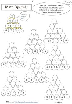 math worksheet : six differentiated maths pyramid worksheets from simple addition  : Multiplication Pyramid Worksheet