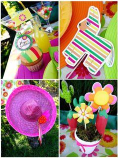 Cinco de Mayo Party Ideas: A Mexican Fiesta Birthday Bash! Mexican Pinata, Mexican Fiesta Party, Fiesta Theme Party, Party Printables, Fiestas Party, Bird Party, Fiesta Decorations, Baby Shower, Bridal Shower