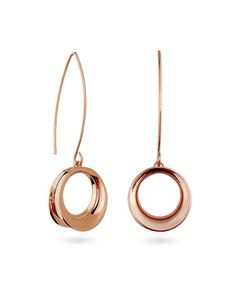Look what I found on #zulily! Rose Gold Circle Drop Earrings #zulilyfinds