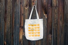 Canvas Tote - Crown Pattern - Where The Wild Things Are Inspired Tote Bag - Accessories