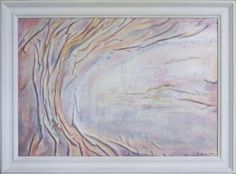 PINK WALL ART Decor Tree Landscape Original Abstract by AnnaKisArt