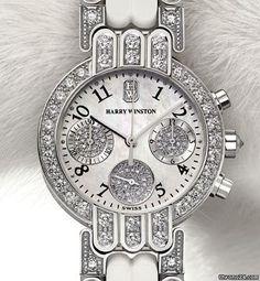 Harry Winston Premier chronograph white gold and diamond timepiece