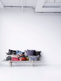 with cushions