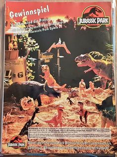 """""""One of the coolest things about these German comics is the diorama on the back cover! Jurassic Park Poster, Jurassic Park Toys, Jurassic Park Series, Jurassic World, Jurrassic Park, The Lost World, Dinosaur Art, 90s Cartoons, Parking Design"""