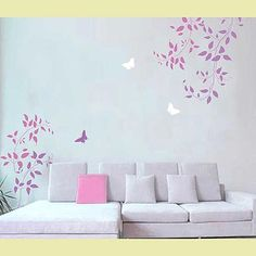 Wall painting stencils, stencil designs for easy wall decor. Stencils for walls