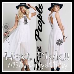 Free People Toosaloosa Midi Dress Free People Toosoolosa Slub Midi Dress. Embroidered beautiful flowing dress, with a modestly open back. The color is ivory combo. With an attached lining. The only size 12 available on any site!!Made of 100% cotton, lining is 42%rayon 58%cotton. Machine wash cold. Free People Dresses Midi