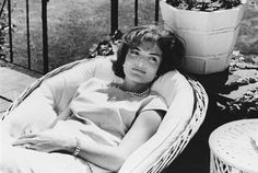 "Love this pic, where she's just waking up from a nap, Jacqueline Lee ""Jackie"" Bouvier Kennedy Onassis."