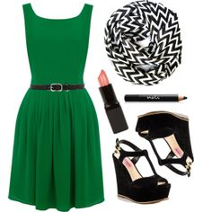 """Dream in Green"" by nickirae on Polyvore"