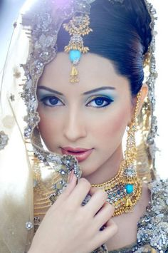 Middle Eastern Natural Beauty, Shy and Exotic, Looks Like A Wedding Photo.  :)