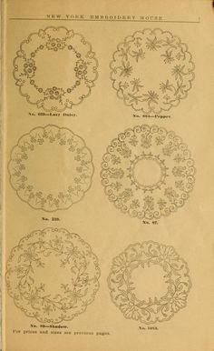Consejos Bordado: otoño e invierno 1910