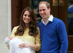 Princess Cambridge with her parents