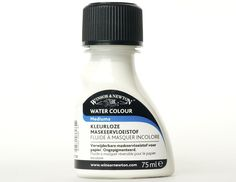 W&N Kleurloze Maskeervloeistof Colourless Art Masking Fluid Speciale kleurloze vloeistof van rubber latex om delen van het werk af te dekken die je wilt  uitsparen, Niet aanbrengen op vochtig en zwak  gelijmd papier. Na toepassing snel verwijderen. Penselen direct na gebruik reinigen met water. Flacon 75 ml.