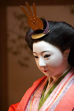 Tamaño natural de la muñeca en el templo de Hokyo-ji 宝鏡寺, Kyoto