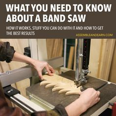 Cool Woodworking Tips - Introduction To A Band Saw - Easy Woodworking Ideas, Woodworking Tips and Tricks, Woodworking Tips For Beginners, Basic Guide For Woodworking Easy Woodworking Ideas, Woodworking Shows, Woodworking Projects That Sell, Popular Woodworking, Fine Woodworking, Woodworking Crafts, Woodworking Furniture, Youtube Woodworking, Woodworking Workbench