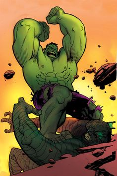 The Hulk versus the Abomination by Andrew Robinson
