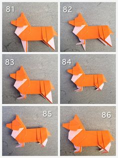 Origami Corgi. (Caution: step to step instructions can be a little unclear.)