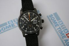 The Fortis flieger introduced in the 1990's and with small modifications still for sale. This is a special edition with black case from 2001. Now for sale at www.sometimeago.com.