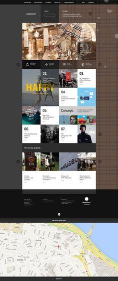 monoshift official website design on Web Design Served