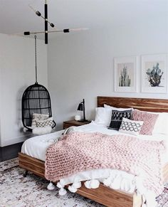 Bedroom Ideas For Girls Bedroom Hogar Simple Bedroom Decor Simple Bedroom Decor, Stylish Bedroom, Cozy Bedroom, Bedroom Girls, Simple Bedrooms, Girl Rooms, White Bedroom, Art For Bedroom, Simple Girls Bedroom