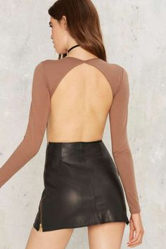 Nasty Gal See You Around Cutout Bodysuit - Brown - Clothes  5d92dfbfbb6