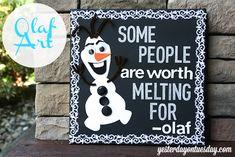Frozen Craft Ideas #Frozen #Olaf