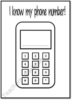 Address and Phone number graphic organiser product from Just-Teach on TeachersNotebook.com