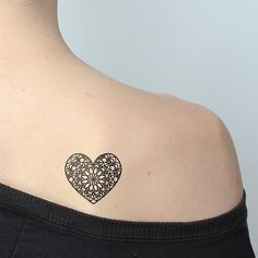 "I would like a real version of this tattoo, larger in scale to show detail. My 5 year old son and I say to one another before bed each night ""I love you with my whole heart."""