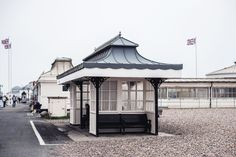 Worthing #2 | Architecture on the Beach | Moonlight Bohemian Worthing, Moonlight, Childhood Memories, Gazebo, Beach House, Travel Photography, Bohemian, Outdoor Structures, Architecture