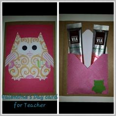 Teacher valentine's card