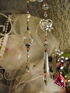 Mother crystal suncatcher ~ love these!