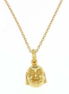 Βούδας   Χειροποίητο Μενταγιόν   αλυσίδα,  από επιχρυσωμένο ασήμι 925, διαμέτρου 1Χ0.7  cm,  26,50 ευρώ.