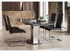 Flow Swivel Glass Extending Dining Table With Chairs Kitchen - Small glass extending dining table