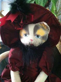 Fancy Stuffed Sitting Plush Cat