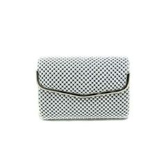 Silver Beaded Mail Evening Clutch - Large - $21