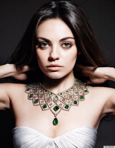 Black Swan actress, Mila Kunis. New celebrity endorsement ads for Gemfields jewelry. (May 2013)