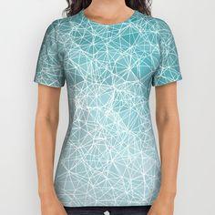 Polygonal A3 All Over Print Shirt by VanessaGF   Society6 #polygonal, #polygons , #nodes, #vectors, #abstract, #shirt ,