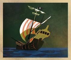 Pirates... by Robbie Thiessen, via Behance