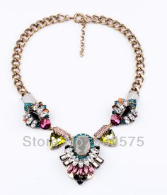 Free Shipping Fashion Costume Crystal Jewelry Necklace 2017