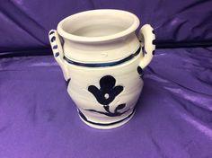 Vintage Salt Glaze Jug/Crock/Vase - Williamsburg Restoration Pottery Co in Good Used Condition, with damage to one handle shown in photos by LilRedsRetroFinds on Etsy