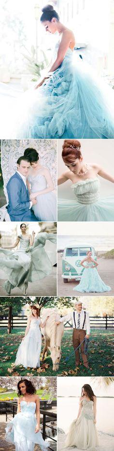 27 Beautiful Colored Wedding Dresses — Praise Wedding