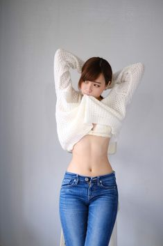 Asian Cute, Cute Asian Girls, Cute Girls, Sexy Jeans, Tops For Leggings, Beautiful Asian Women, Girl Poses, Girls Jeans, Girl Fashion