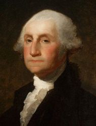 """George Washington (February 22, 1732 - December 14, 1799) was the first (1789 - 1797) President of the United States of America and is recognized by Americans as """"The Father of His Country."""" (The earliest known image in which Washington is identified as such is on the cover of the circa 1778 Pennsylvania German almanac, Lancaster: Gedruckt bey Francis Bailey . This identifies Washington as """"Landes Vater"""" or Father of the Land .)"""