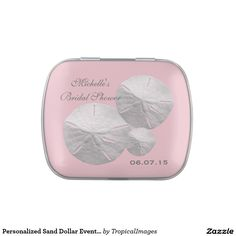 Personalized Sand Dollar Event Favor (pink) Candy Tin