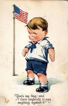 That's my flag and I dare you to say anything against it! :-) #america #vintage #boy