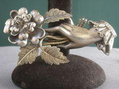 Antique Victorian Silver Gold Genuine Diamond Hand Made Big Pin Brooch | eBay, $699.00