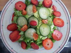 ensalada fresones y pepino
