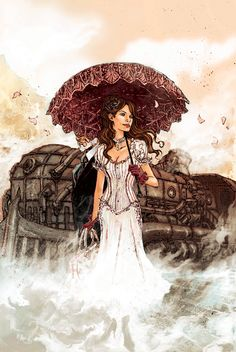 Black Rose - Aaron Minnier   #Steampunk #Girl