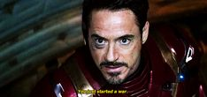 Tony to Steve: You just started a war.